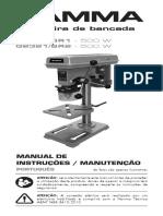 MANUAL DA MAQUINA FURADEIRA DE BANCADA IBAR MIA