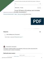 Um Poliedro Formado Por 22 Faces e 24 Vértices Será Montado Usando Canudinhos Serão Necessários __ - Brainly.com.Br