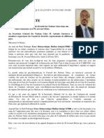 REACTION Au Conseil de Sécurité Des Nations Unies 22 Fevrier 2021