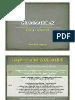 Grammaire A2 Module 1 (2)
