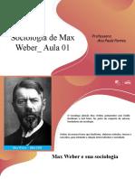 A Sociologia de Max Weber Aula 01