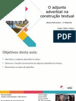 ADJUNTO ADVERBIAL MATERIAL DE ESTUDOS