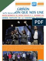 Revista PP GRIÑÓN Nº 13. Noviembre 2010 baja para envíos correo