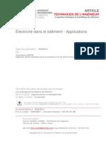 Électricité dans le bâtiment - Applications