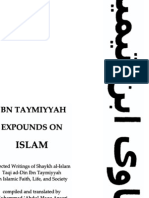 Ibn Taymiyyah Expounds on Islam_ Selected Writings of Shaykh Al-Islam Taqi Ad-Din Ibn Taymiyyah on Islam