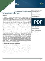 1-ANÁLISE ECONÔMICA DO IPEA - revisão das previsões 2020 e 2021