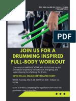 sef teacher pound fitness class  march 2021