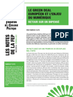 Le Green Deal Européen et l'enjeu du numérique. Retour sur un impensé