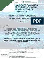 Programação Comercial _video Aula 1