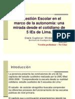 ponencia sobre gestion escolar