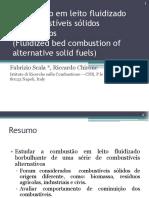 Combustão em leito fluidizado de combustíveis sólidos alternativos