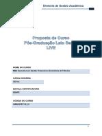 FGV - MBA - GESTÃO FINANCEIRA E ECONOMICA DE TRIBUTOS