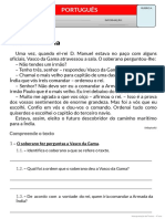 Texto Vasco da Gama 4º ano
