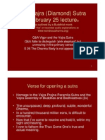 Vajra (Diamond) Sutra February 25, 2011 Lecture