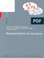 Argumentation Et Narration