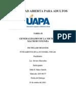 TAREA 2 GENERALIDADES DE LA MICRO Y MACROECONOMÍA