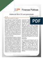 Análisis de los efectos del IVA al 12% semi-generalizado (propuesta Beltrones)