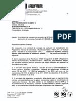 Exclusión partes para fabricación de luminarias 2014032781