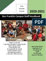 ben franklin faculty staff handbook 2020-2021 - final version