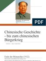 Präsentation Mao Zedong Überblick