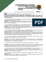 RESPUESTAS A RECUPERACIÓN PRIMER EXAMEN 2014-II