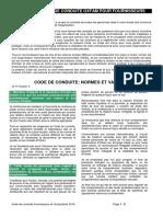 ANNEXE B  - Code de Conduite - Fournisseurs  Consultants