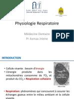 Physiologie Générale - Respiratoire - FMD - Pr Jniene - 2019-20