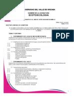 Avance Programático de Ecotoxicologia