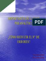 Importancia Fase Preanalitica