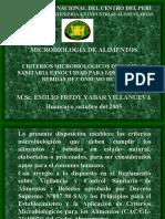 CRITERIOS MICROBIOLOGICOS DE ALIMENTOS