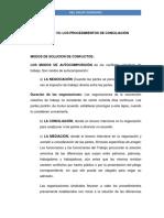 Unidad VII Los procedimientos de Conciliacion