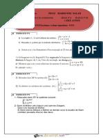 Série d'exercices 6 Lycée pilote - Math - Systèmes a deux équations - 1ère AS (2016-2017) Mr Mabrouki Salah
