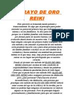 EL RAYO DE ORO REIKI