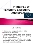 PRINCIPLE OF TEACHING LISTENING AND SPEAKING