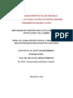 EL CLIMA INSTITUCIONAL COMO REFLEJO DE LOS enfoques pedagogicos usados
