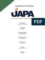 Tarea VI Español 2 - UAPA