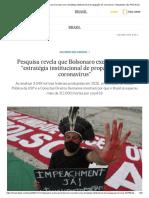 """Pesquisa revela que Bolsonaro executou uma """"estratégia institucional de propagação do coronavírus"""" _ Atualidade _ EL PAÍS Brasil"""