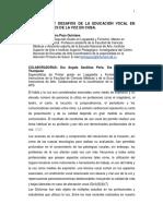 REALIDADES Y DESAFIOS DE LA EDUCACIÓN VOCAL EN