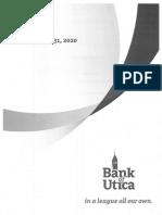 Bank of Utica 2020 Annual Report