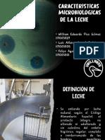 Características microbiologicas de la leche, Pecuarios.