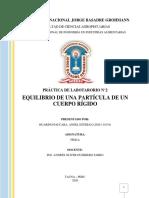 PRACTICA DE LABORATORIO N2 EQUILIBRIO
