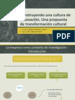 Construyendo una cultura de innovación