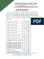 Acta de Entrega Rios