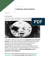 Glosario CiFi  Géneros de la Ciencia Ficción (I)