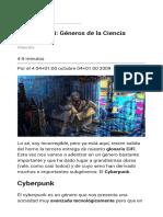 Glosario CiFi  Géneros de la Ciencia Ficción (III)