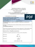 Guía de actividades y rúbrica de evaluación - Fase 1 - Conceptos previos para el Cälculo Integral