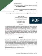 Texto 6. FENOMENOLOGIA TRANSCENDENTAL E A PSICOLOGIA FENOMENOLÓGICA (Goto, Holanda e Costa, 2018)