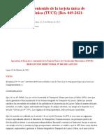 ATU_ Formato y Contenido de La Tarjeta Única de Circulación Electrónica (TUCE) [Res. 049-2021-ATU_DO] _ LP