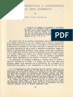 Catarsis Terapeutica y Logoterapia en El Epos Homerico 923720