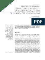 PROCEDIMENTOS DE EMPARELHAMENTO COM O MODELO E POSSÍVEIS APLICAÇÕES NA AVALIAÇÃO DE HABILIDADES DE LINGUAGEM